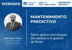 "The webinar on ""Predictive maintenance"" will analyse on March 3rd ""how to apply disruptive technology to fleet management"""